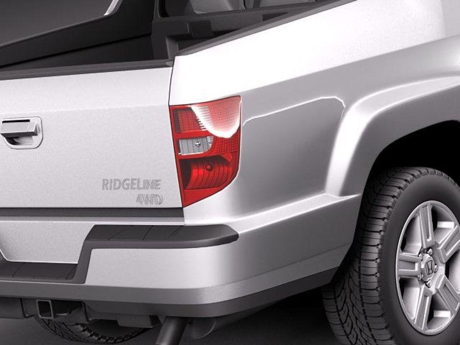 Honda Ridgeline 2012 royalty-free 3d model - Preview no. 4