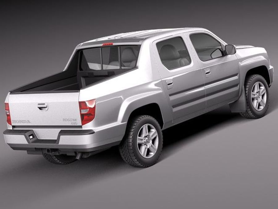 Honda Ridgeline 2012 royalty-free 3d model - Preview no. 5