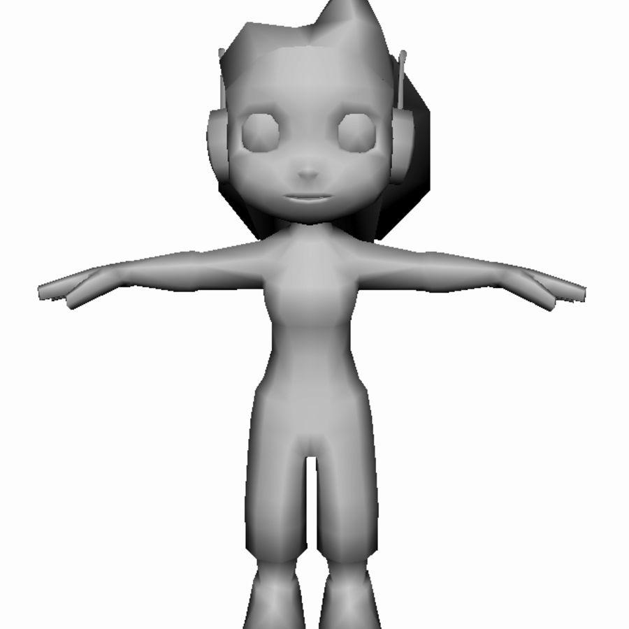 만화 소녀 캐릭터 royalty-free 3d model - Preview no. 11