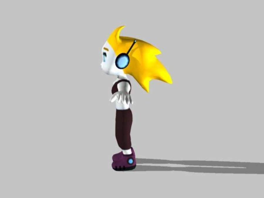 Cartoon Girl Character royalty-free 3d model - Preview no. 5