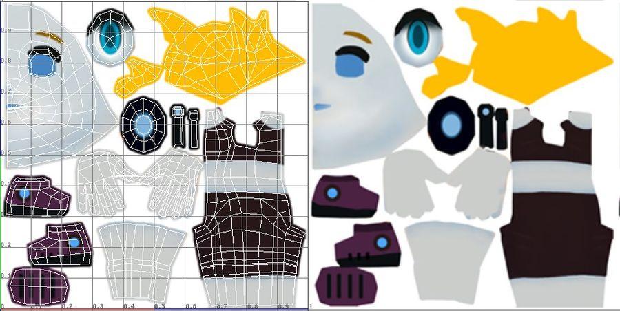 만화 소녀 캐릭터 royalty-free 3d model - Preview no. 13
