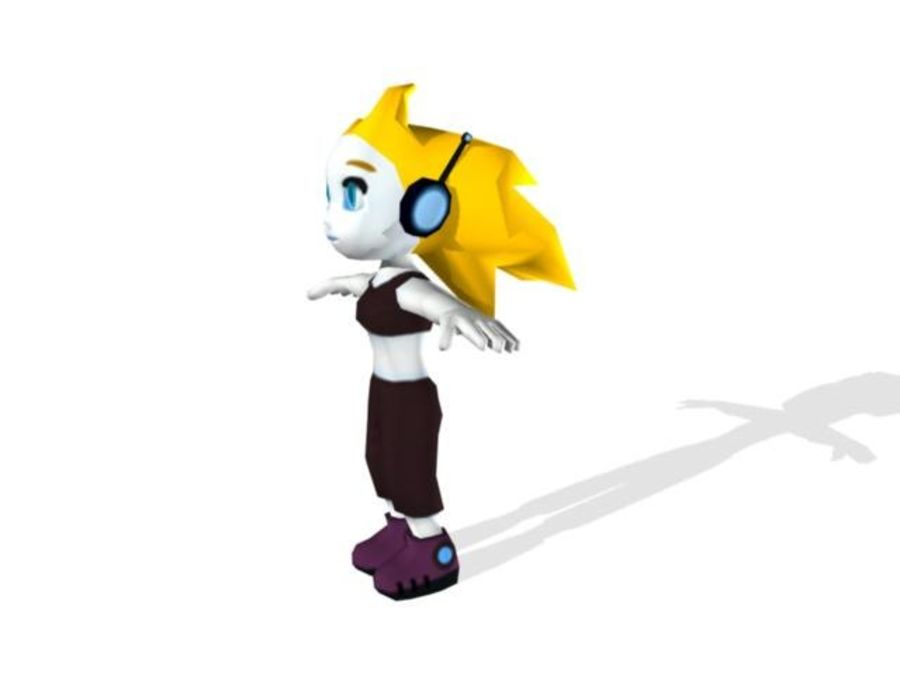 Cartoon Girl Character royalty-free 3d model - Preview no. 2