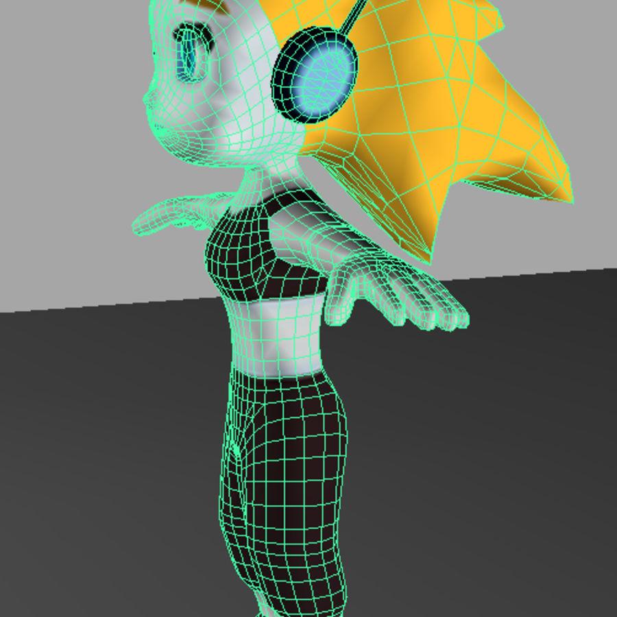 만화 소녀 캐릭터 royalty-free 3d model - Preview no. 9