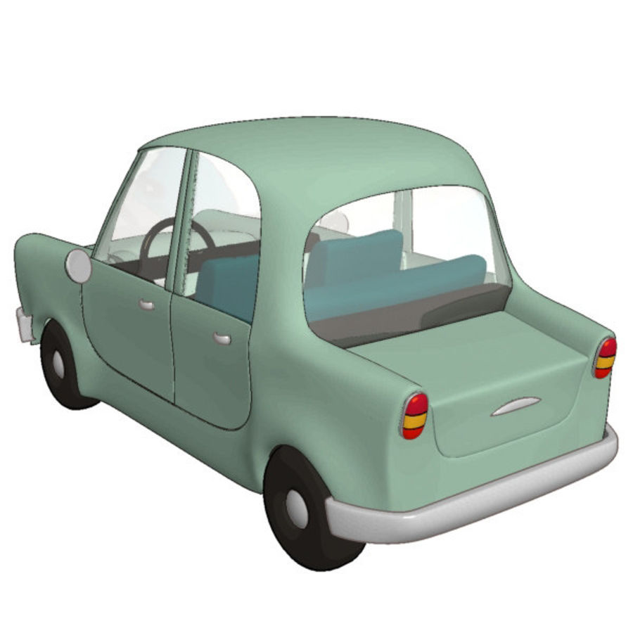 漫画車 royalty-free 3d model - Preview no. 2