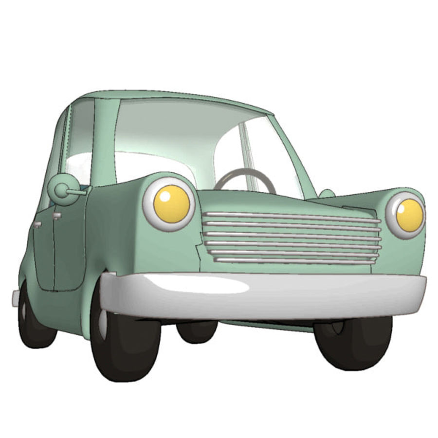漫画車 royalty-free 3d model - Preview no. 4