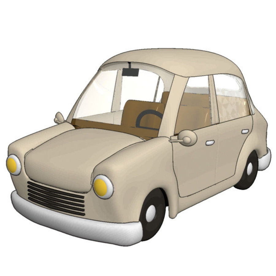 漫画車 royalty-free 3d model - Preview no. 1