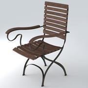 Trädgårdsstol 27 3d model