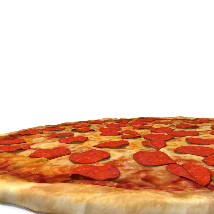 Pepperoni Pizza royalty-free 3d model - Preview no. 3
