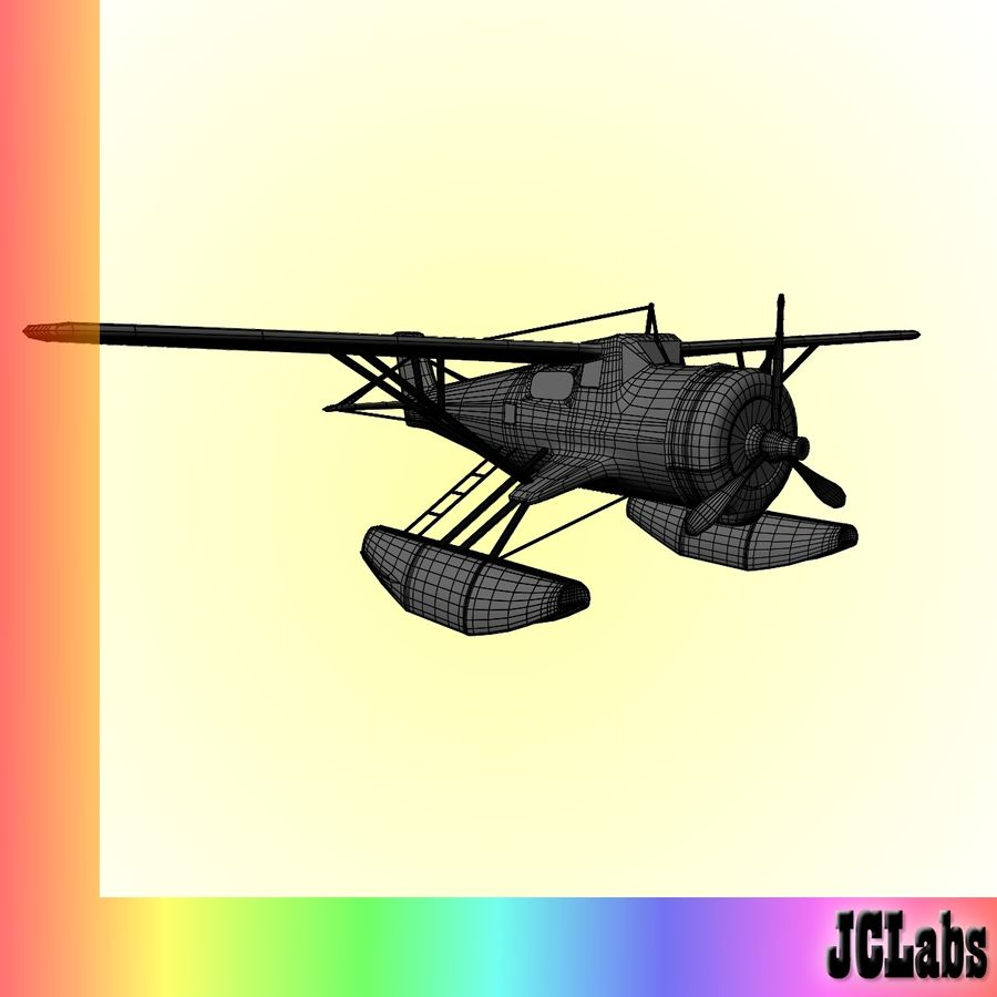 Seaplane royalty-free 3d model - Preview no. 7