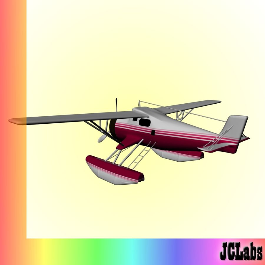 Seaplane royalty-free 3d model - Preview no. 4