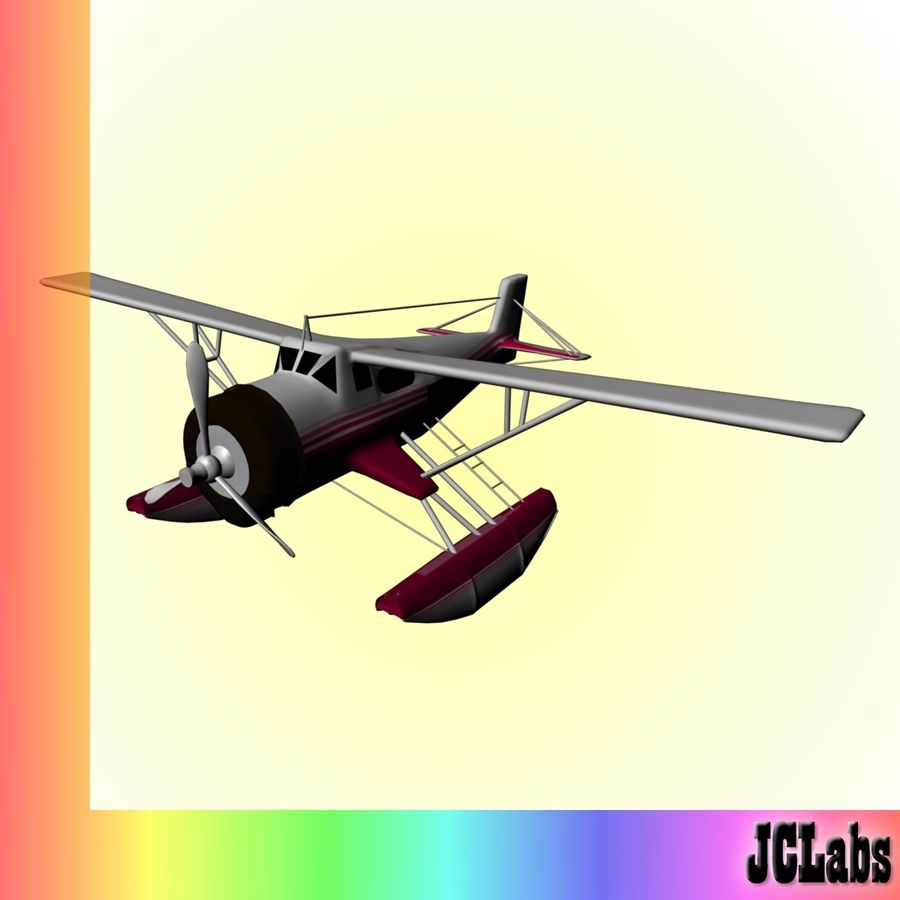 Seaplane royalty-free 3d model - Preview no. 2