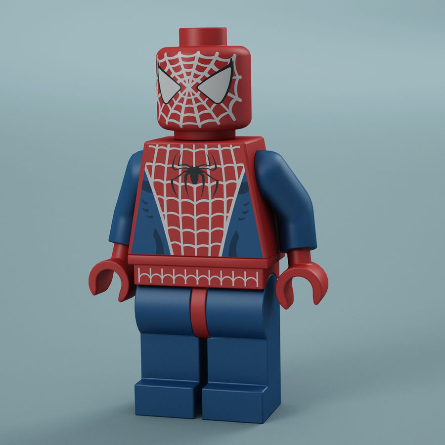 Lego Spider Man royalty-free 3d model - Preview no. 1