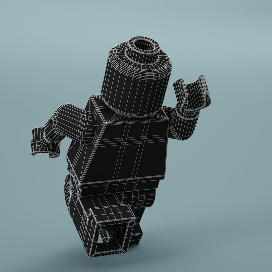 Lego Spider Man royalty-free 3d model - Preview no. 18