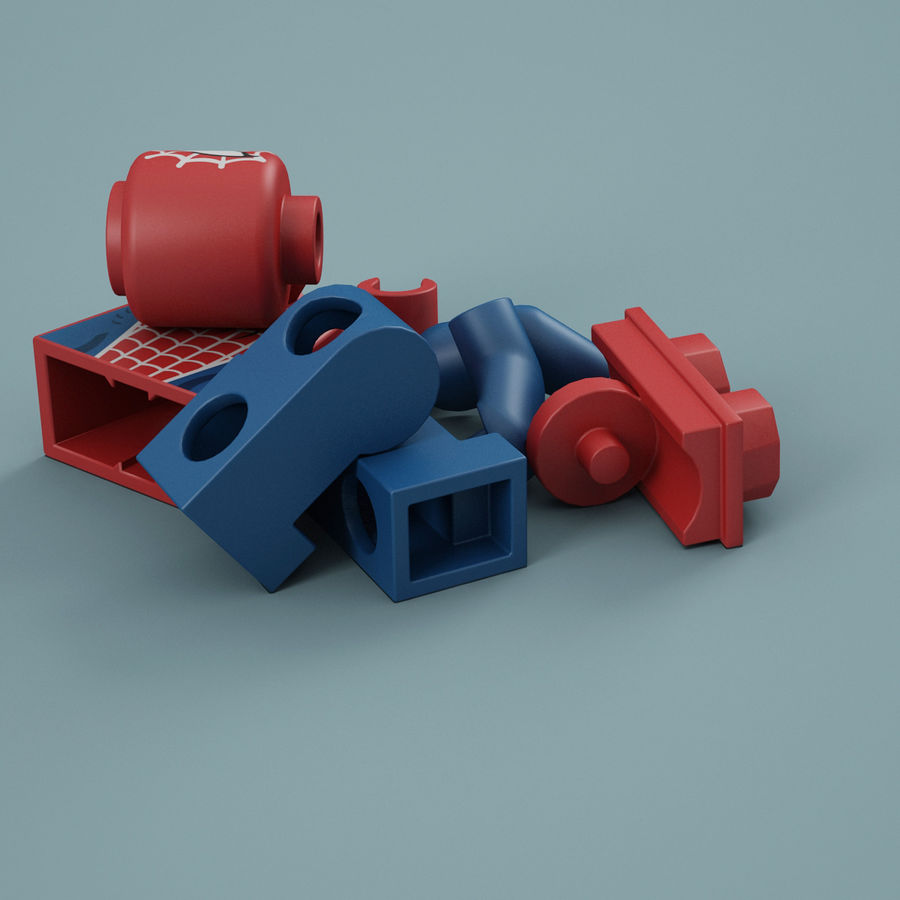 Lego Spider Man royalty-free 3d model - Preview no. 15