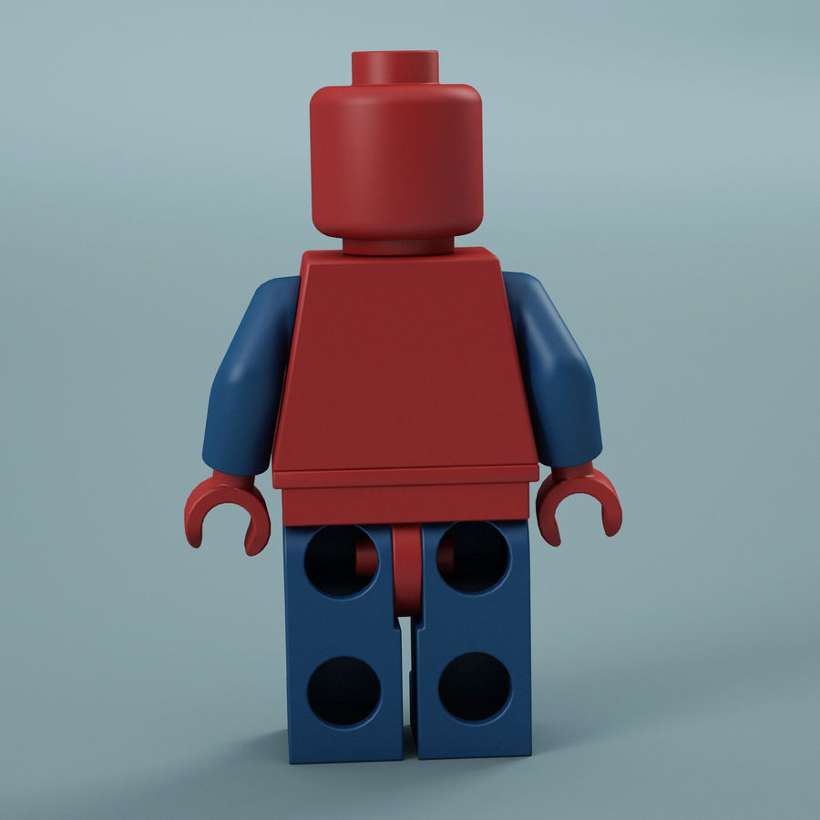 Lego Spider Man royalty-free 3d model - Preview no. 7