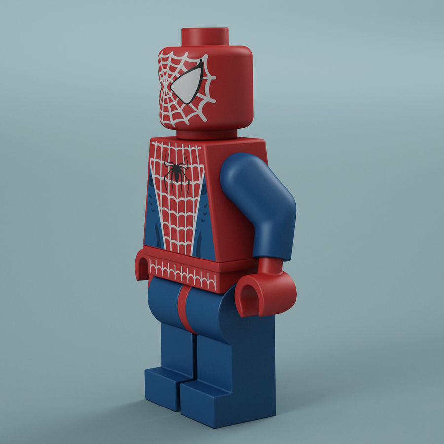 Lego Spider Man royalty-free 3d model - Preview no. 4
