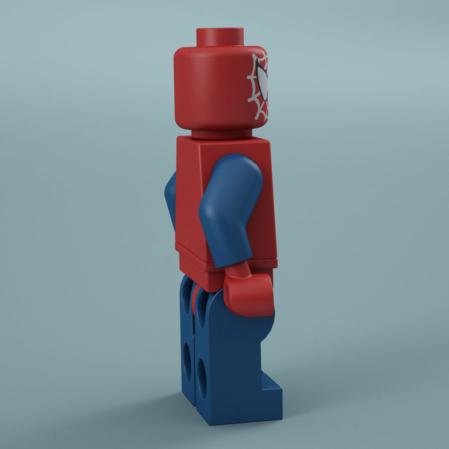 Lego Spider Man royalty-free 3d model - Preview no. 9