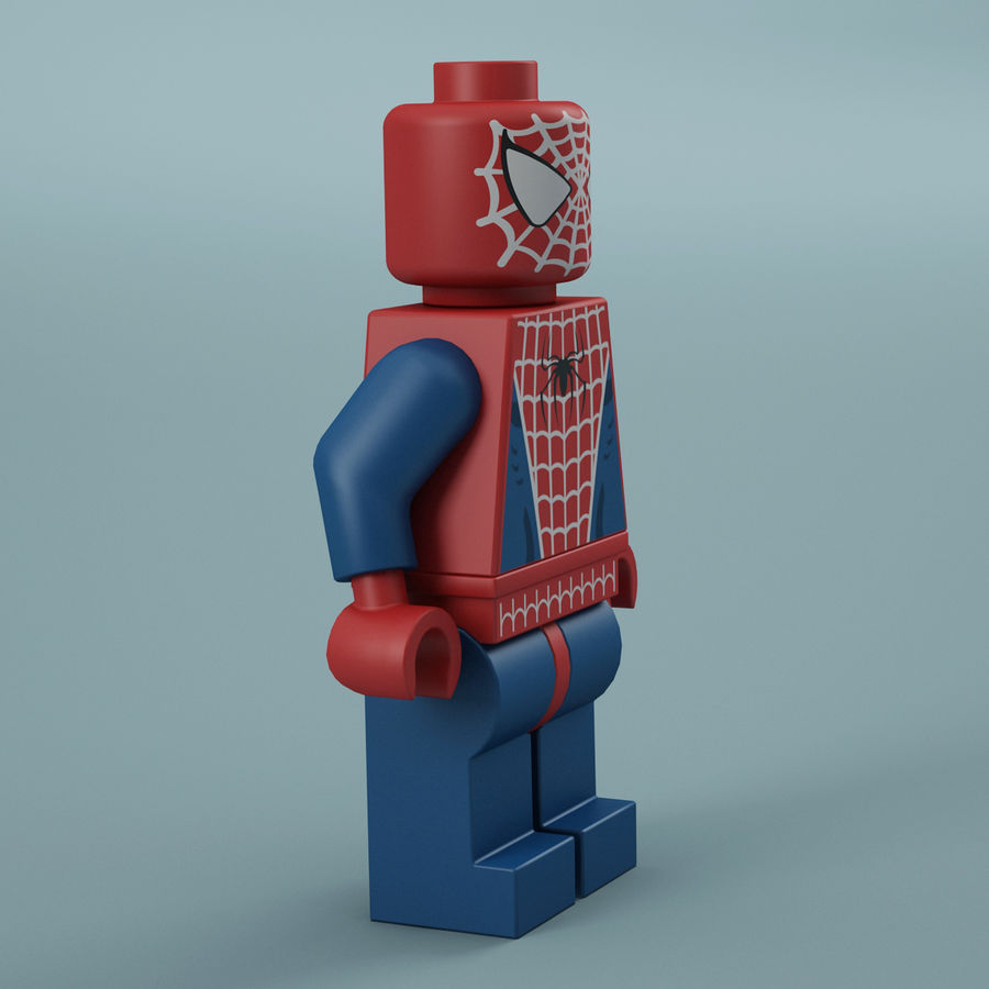 Lego Spider Man royalty-free 3d model - Preview no. 10
