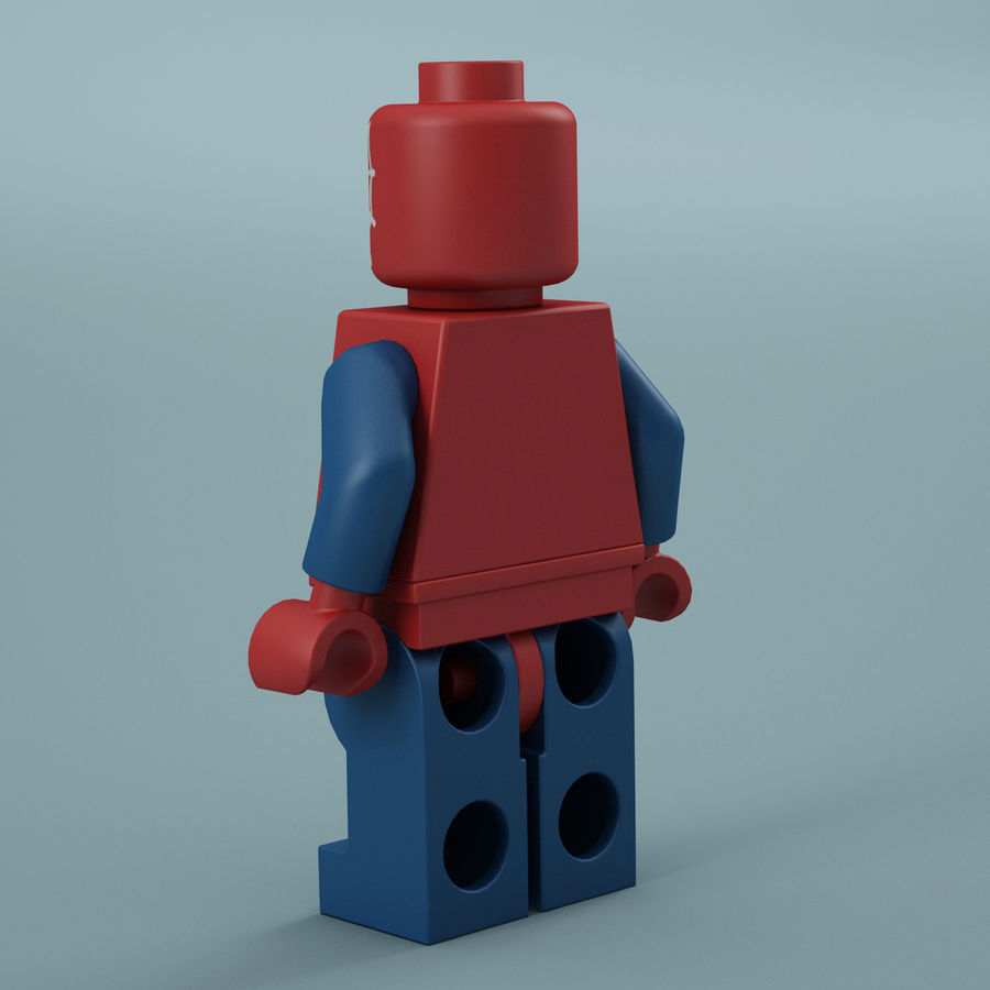 Lego Spider Man royalty-free 3d model - Preview no. 6
