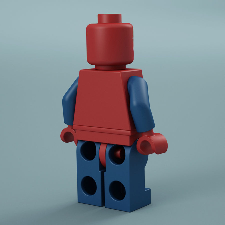 Lego Spider Man royalty-free 3d model - Preview no. 8