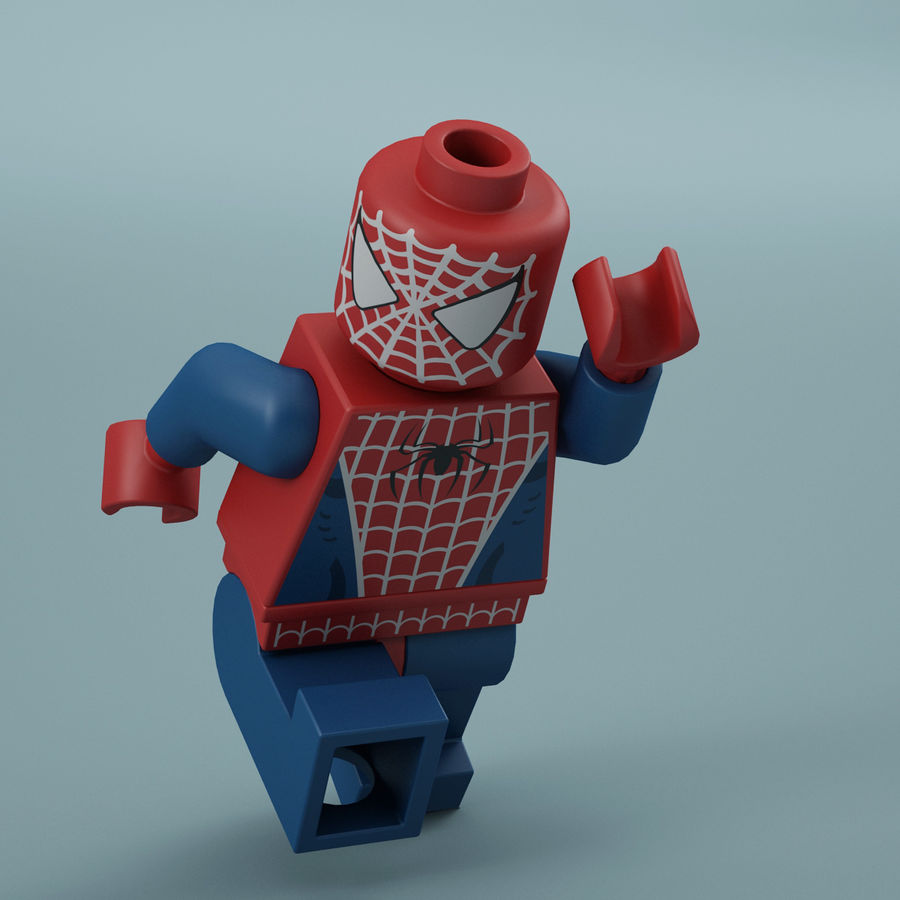 Lego Spider Man royalty-free 3d model - Preview no. 3