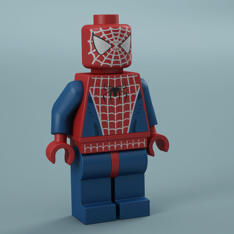 Lego Spider Man royalty-free 3d model - Preview no. 11