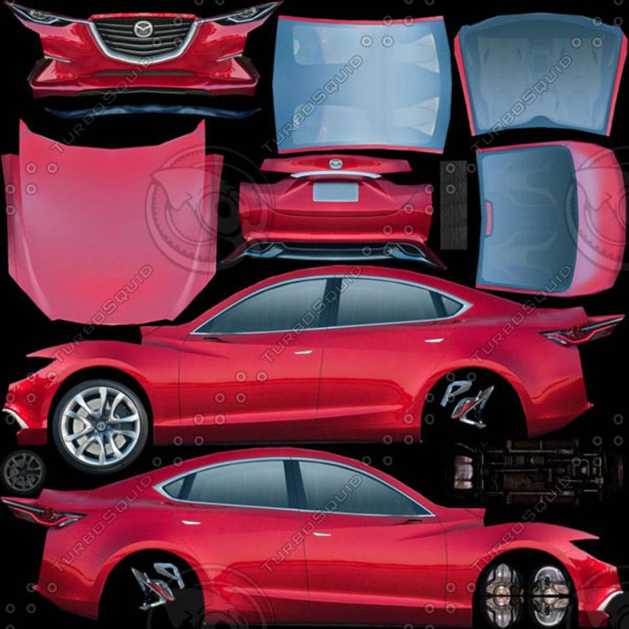马自达Takeri概念2011年 royalty-free 3d model - Preview no. 8