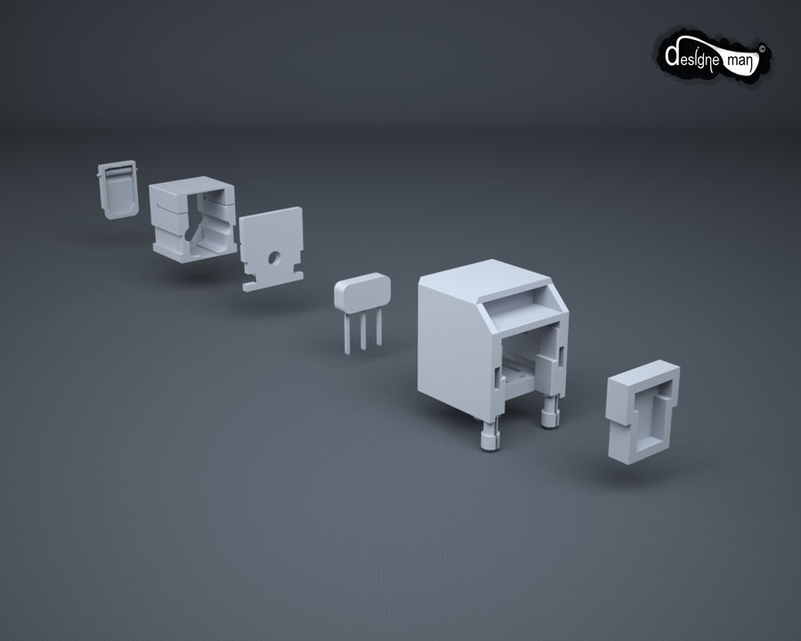 Toslink Port royalty-free 3d model - Preview no. 27