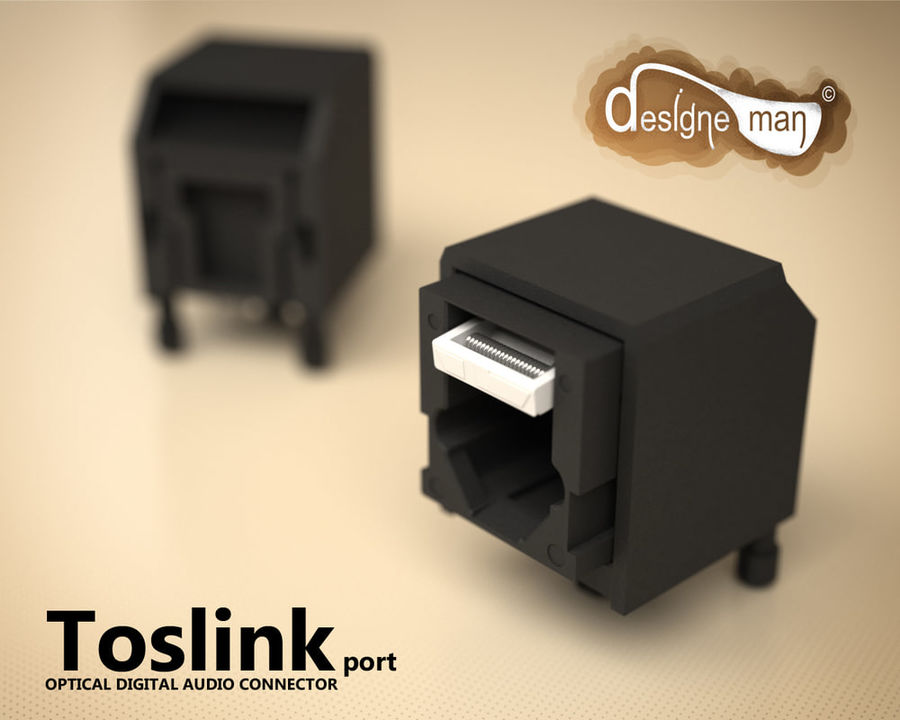 Toslink Port royalty-free 3d model - Preview no. 1
