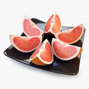 Grapefruit Quarter Orange 3d model