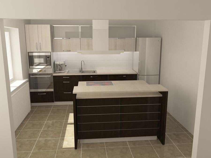 Modern kitchen royalty-free 3d model - Preview no. 7