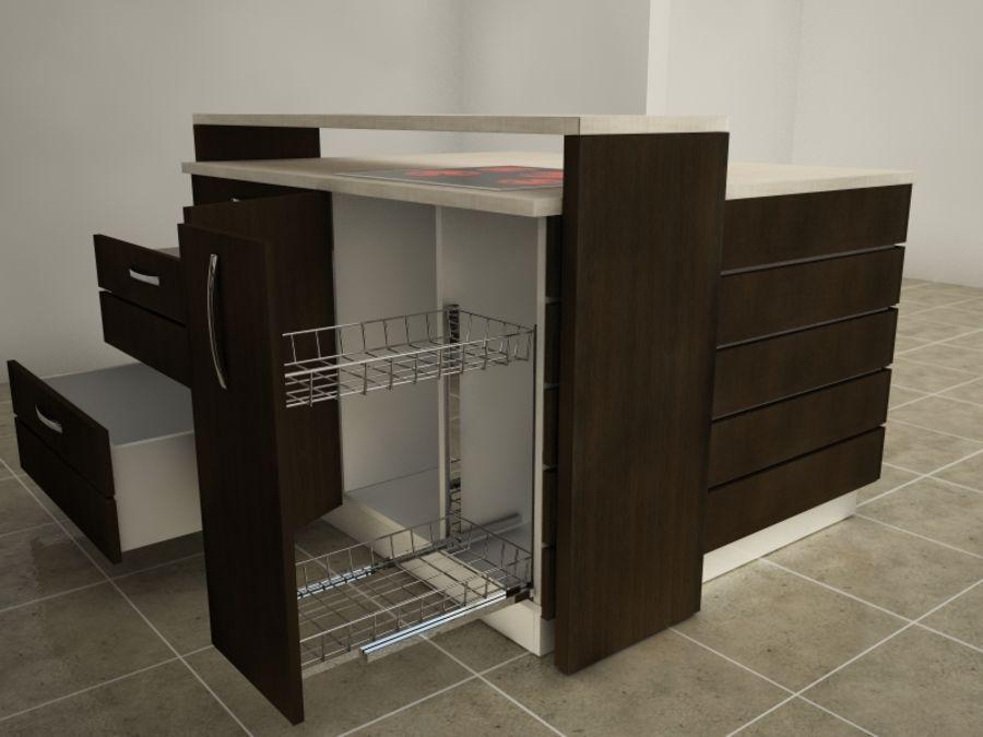 Modern kitchen royalty-free 3d model - Preview no. 5