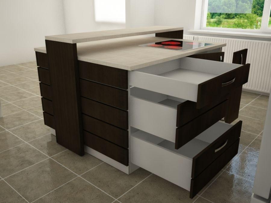 Modern kitchen royalty-free 3d model - Preview no. 6