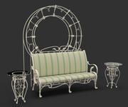 Muebles de jardín forjados modelo 3d