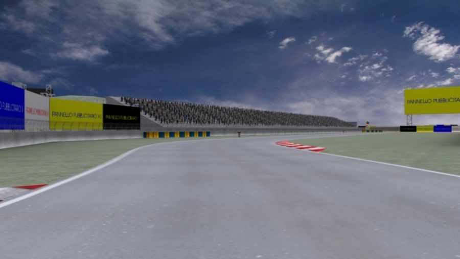 fantasy racing track royalty-free 3d model - Preview no. 7