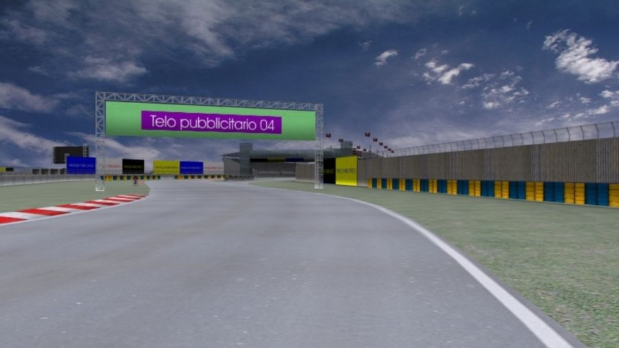 fantasy racing track royalty-free 3d model - Preview no. 10