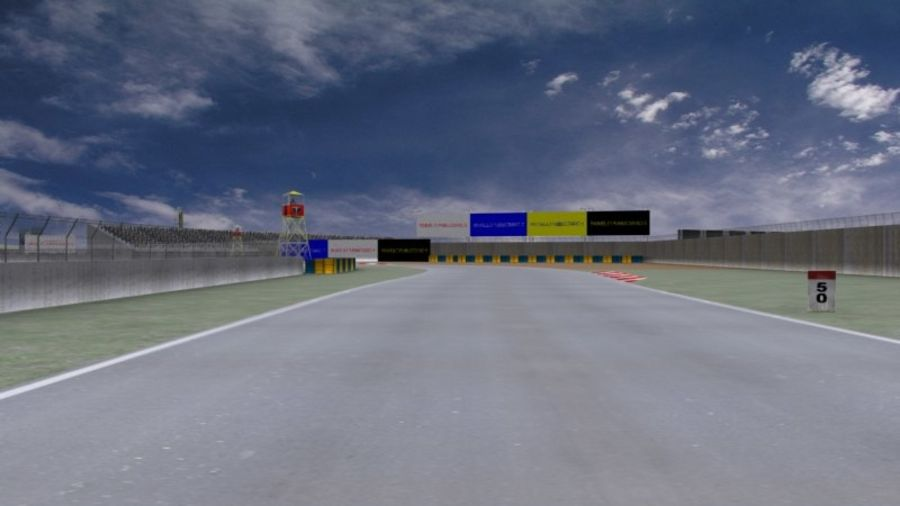 fantasy racing track royalty-free 3d model - Preview no. 8