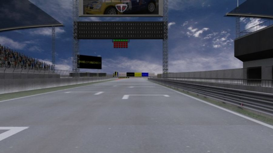 fantasy racing track royalty-free 3d model - Preview no. 2