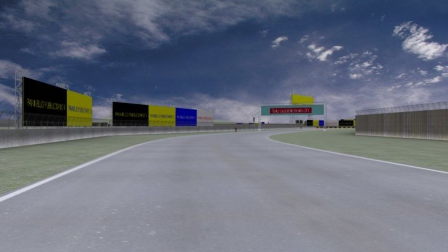 fantasy racing track royalty-free 3d model - Preview no. 4