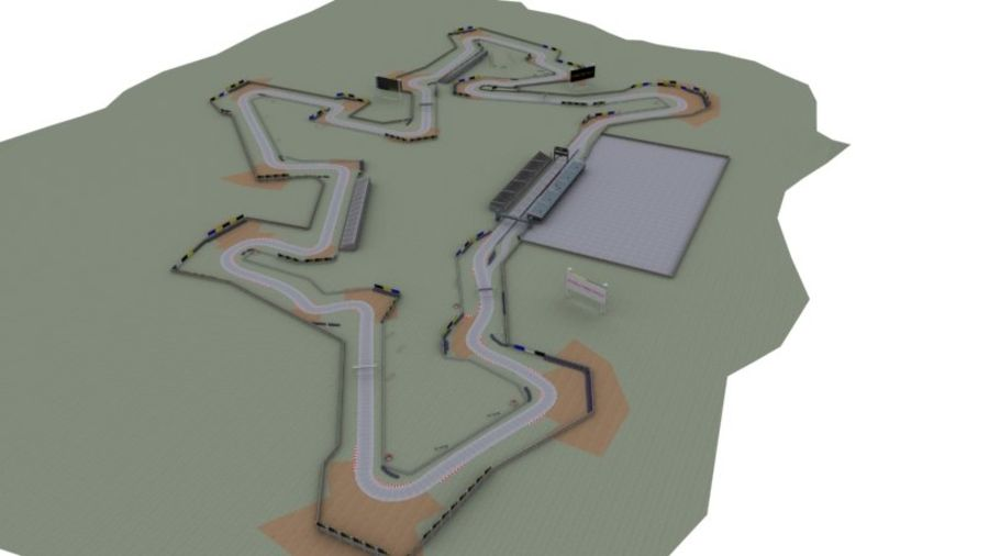 fantasy racing track royalty-free 3d model - Preview no. 11