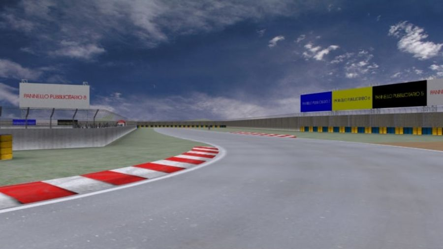 fantasy racing track royalty-free 3d model - Preview no. 9