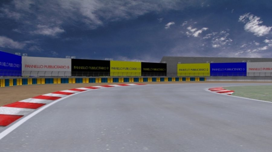 fantasy racing track royalty-free 3d model - Preview no. 5