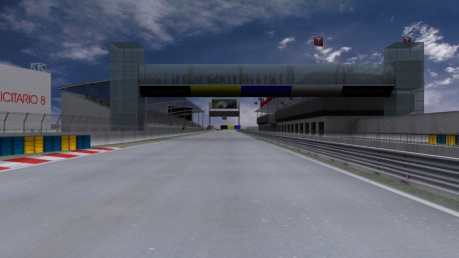 fantasy racing track royalty-free 3d model - Preview no. 1
