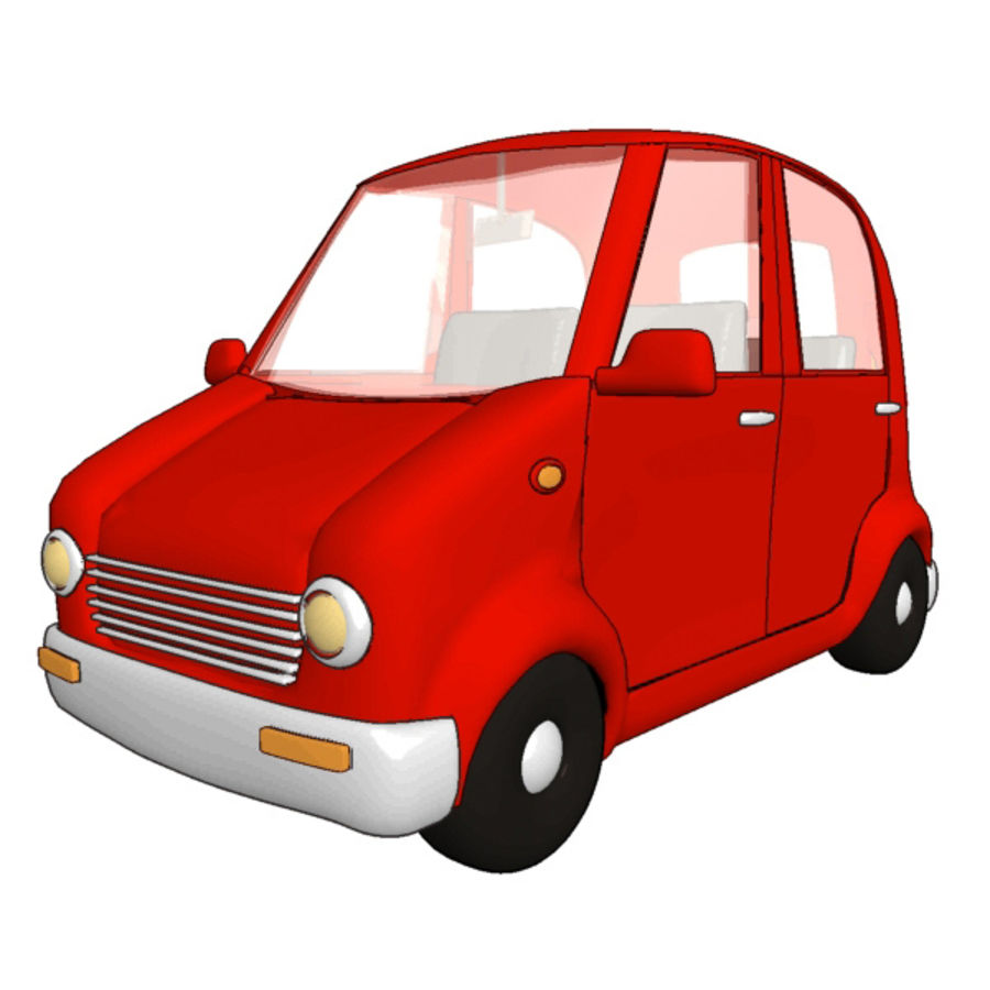 cartoon cars royalty-free 3d model - Preview no. 8