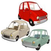 samochody kreskówki 3d model