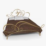 연철 침대 3d model