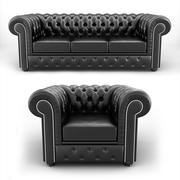 Chesterfield Sofa & Sessel 3d model