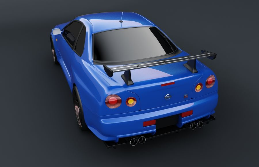 Nissan Skyline GT-R royalty-free 3d model - Preview no. 4