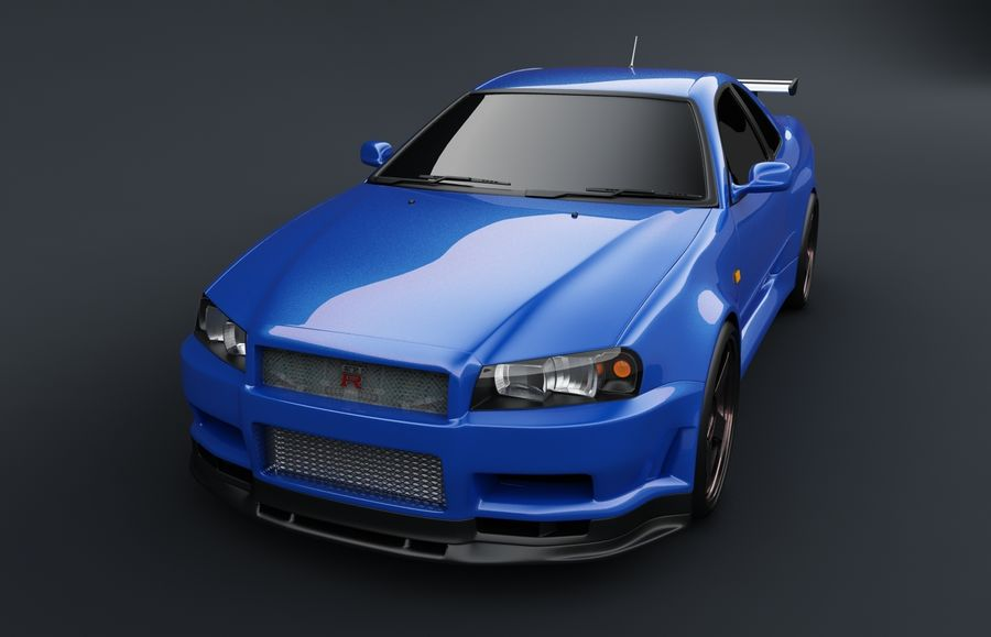 Nissan Skyline GT-R royalty-free 3d model - Preview no. 3