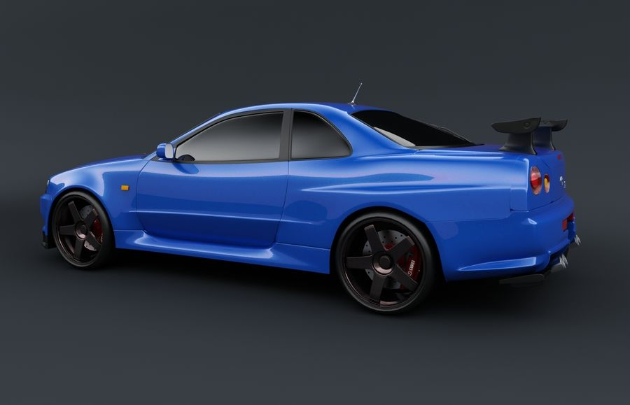 Nissan Skyline GT-R royalty-free 3d model - Preview no. 2